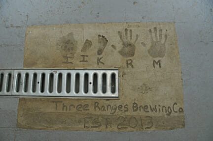 Lewis family handprints